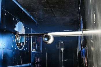 View into a transonic wind tunnel