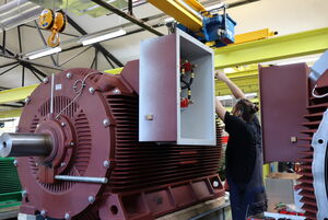 Dual-speed medium voltage motor manufacturing Berlin, Germany