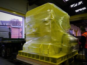 Shipping of a 25 ton fan drive to Italy