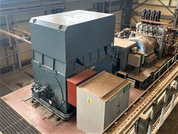 Synchronous generator at power plant in Scotland