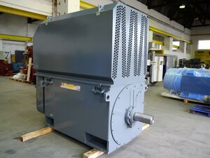 Drive-end of a 1400 kW low-voltage squirrel-cage motor