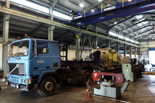 11,000 V squirrel cage motor arriving at Malaysian power plant