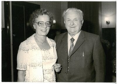 Gisela and Kurt Menzel 1979 at Kurt Menzel's 75th birthday