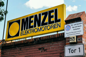 Menzel Elektromotoren location Berlin entrance gate