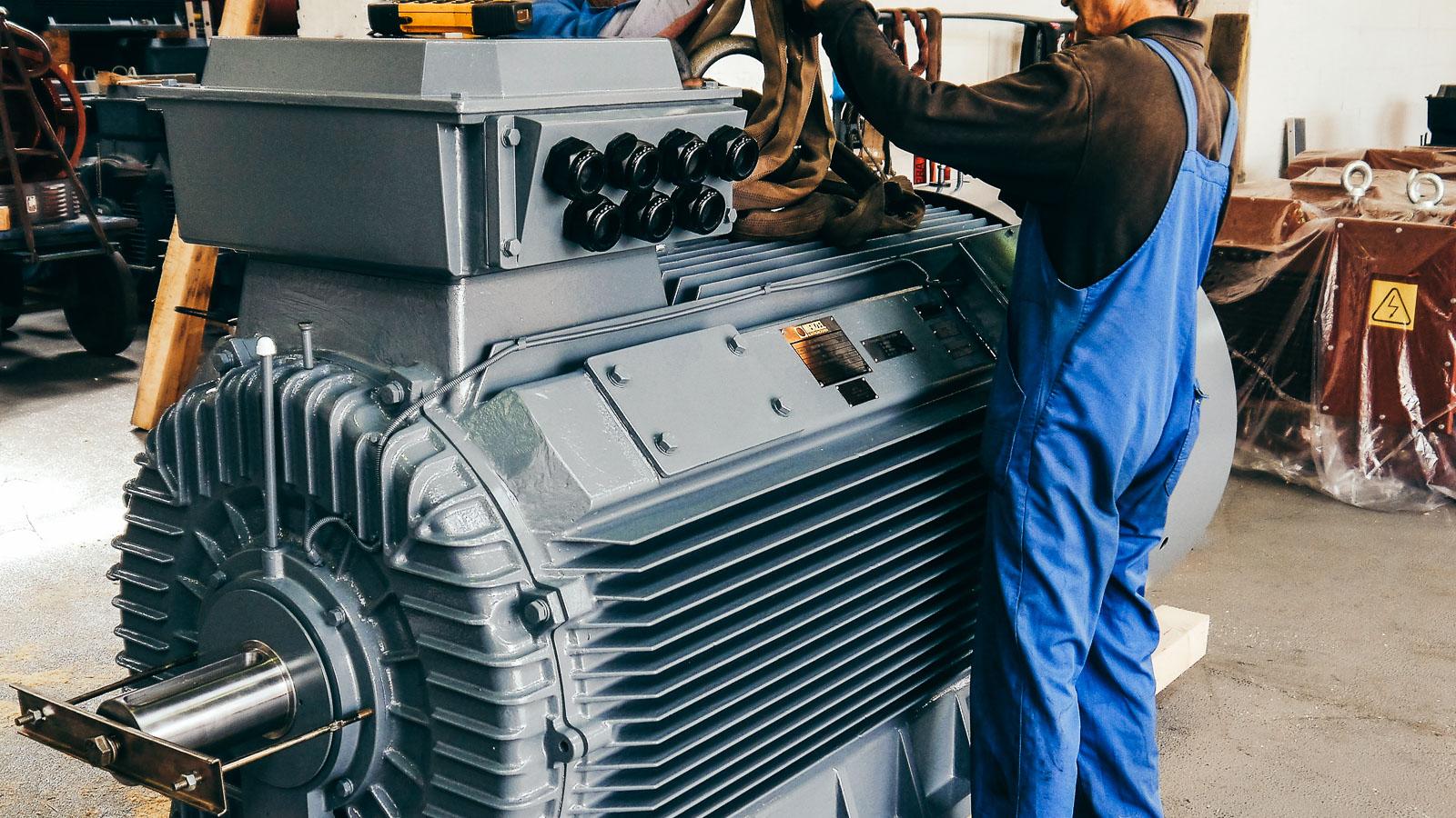 Elektromotor Hersteller Industrie Motor Lager Ab Werk